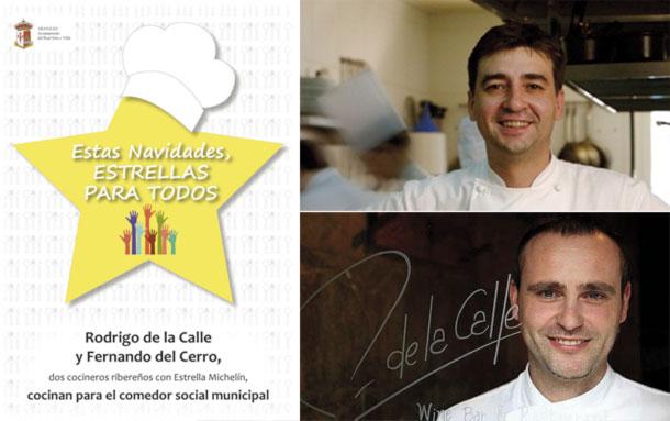 Dos cocineros con estrellas Michelin para el comedor social de Aranjuez