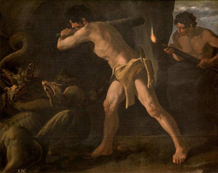 Zurbarán Hércules y la Hidra de Lerna.