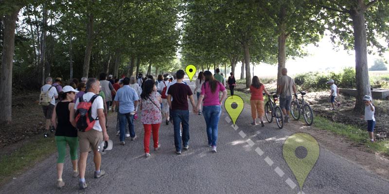 Rutas andando y bicicleta